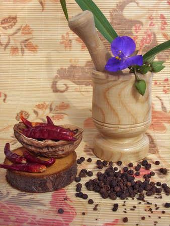 pimienta negra: Chiles rojos y pimienta negro