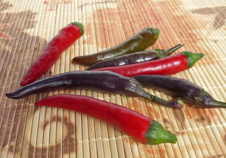 hotter: Red, green and violet chilies
