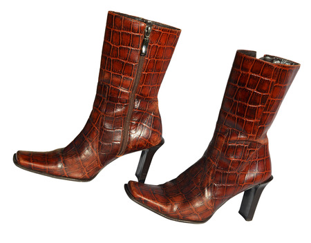leather boots: Crocodile leather boots