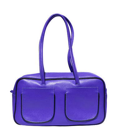 genuine leather: Violet ladies handbag genuine leather