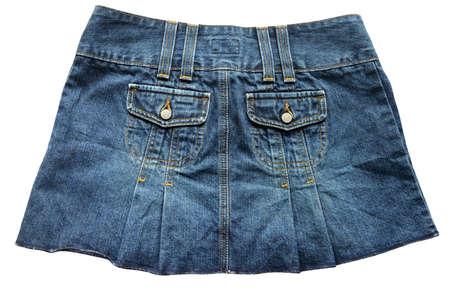 skirts: Blue denim skirts Stock Photo