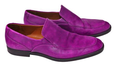 genuine leather: Purple men genuine leather shoes