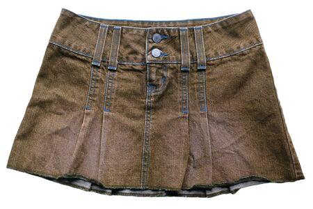 skirts: Brown denim skirts Stock Photo