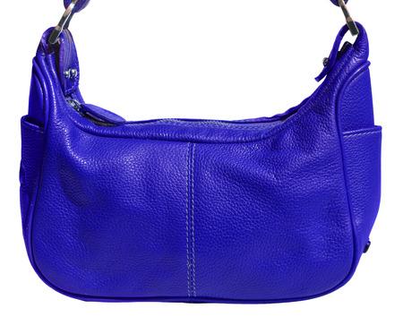 genuine leather: Blue handbag genuine leather