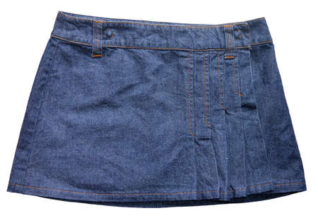 blue denim: Blue denim skirts Stock Photo