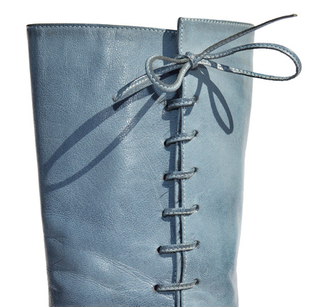 genuine: Ladies blue genuine leather boots