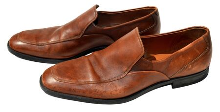 genuine leather: Brown men genuine leather shoes Stock Photo