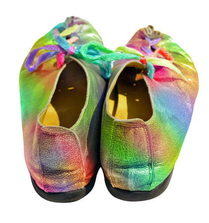 polychromatic: Colorful ladies shoes with multicolored shoelaces