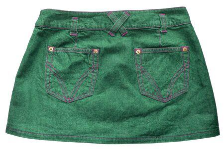 skirts: Green denim skirts
