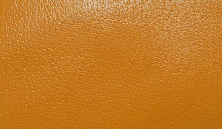 genuine leather: Orange genuine leather background Stock Photo