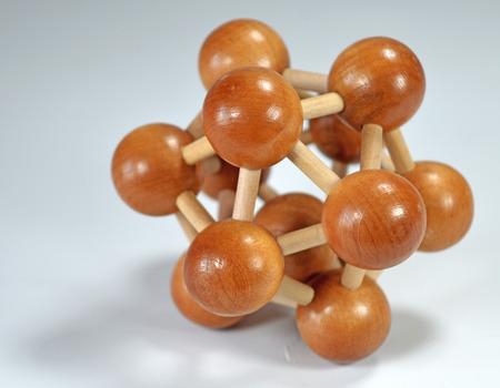 lógica: Juguetes lógicos de madera Foto de archivo