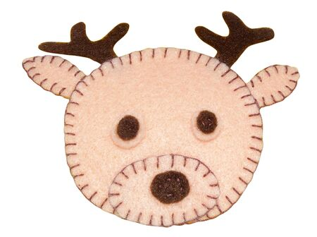 felt: Handmade toy from felt - deer