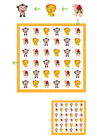 preschool child: Childrens games for the mind