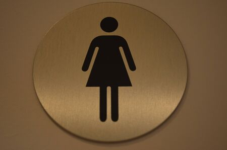 womans: Womans restroom Stock Photo
