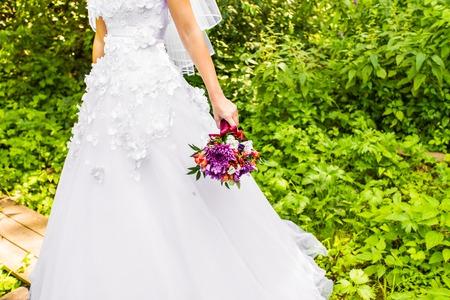 pretty dress: wedding bouquet, bridal bouquet, beautiful bouquet of different colors Stock Photo