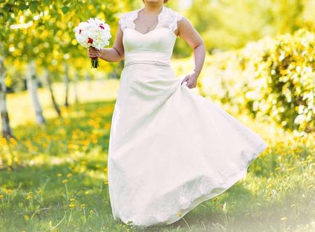 bridal dress: wedding bouquet, bridal bouquet, beautiful bouquet of different colors Stock Photo