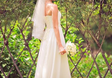 purple dress: wedding bouquet, bridal bouquet, beautiful bouquet of different colors Stock Photo