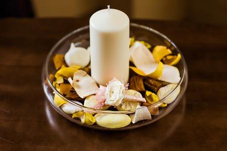 boutonniere: Beautifull white rose boutonniere flower. wedding boutonniere Stock Photo