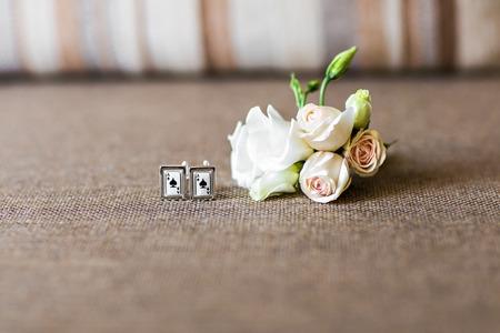cufflinks: Wedding details, beautiful cufflinks, beautiful boutonniere, mens details