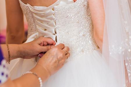Botones de la novia vestido de novia, novia, vestido de novia Foto de archivo