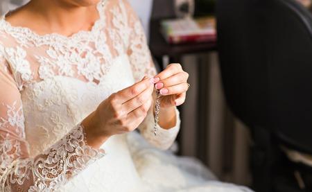 jewelery: wedding Beautiful adornment on white, jewelery, bride