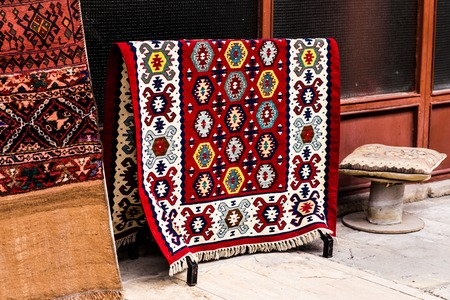 Oriental carpets in the market in Istanbul 写真素材