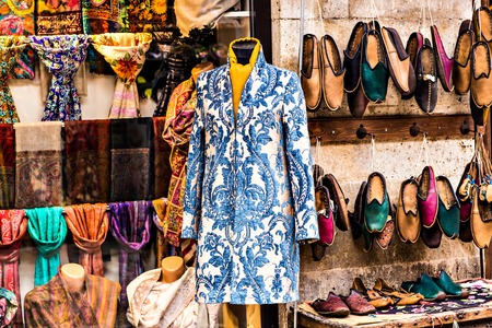 oriental clothes at a market stall in Istanbul, Turkey