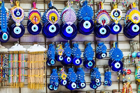 evil eye - Turkish amulet on bazaar in Istanbul