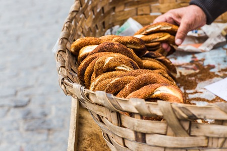 the turkish traditional food name is Simit