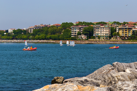 regatta: Boats in sailing regatta  in the Mediterranean Sea