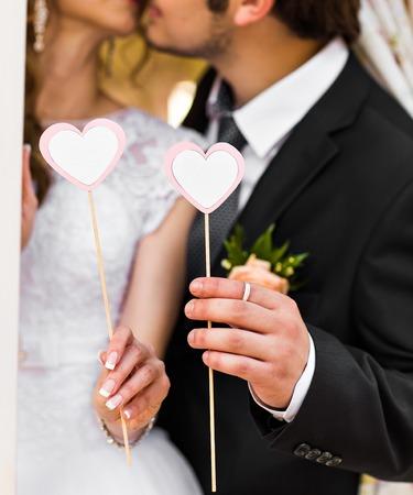 Una imagen del corazón, accesorios de la boda en forma de corazón Foto de archivo - 42888943