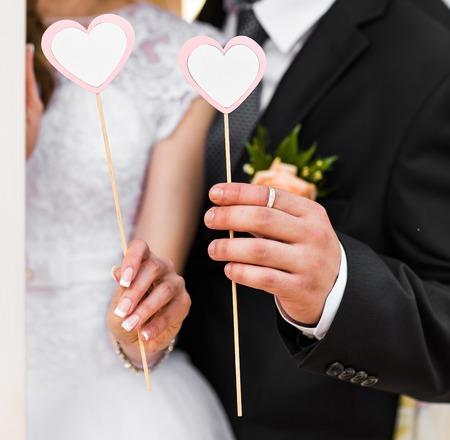 Una imagen del corazón, accesorios de la boda en forma de corazón