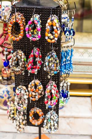 bead jewelry: bracelets at the bazar of Istanbul, Turkey