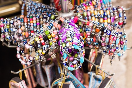 bracelets at the bazar of Istanbul, Turkey