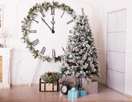 hearthside: Festive Christmas interior and big white clock