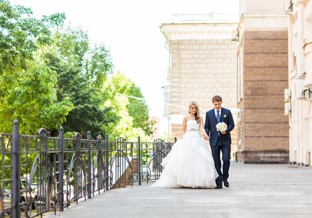 happy wedding: Beautiful happy wedding couple is enjoying wedding