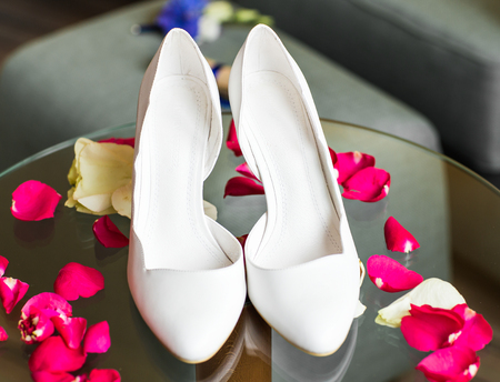 opentoe: Elegant beautiful white shoes for a bride