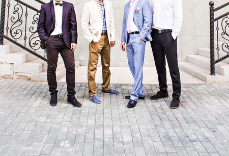 Groom With Best Man And Groomsmen At Wedding. 写真素材