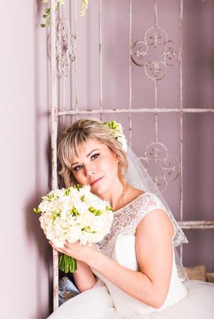 soft   focus: closeup portrait of beautiful bride - soft focus