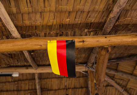 nationalist: Germany Flag. Image of Flag of Germany with hut background Stock Photo