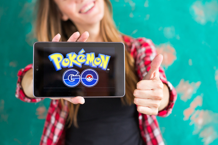 Ufa, Russia. - July 29: An Android user plays Pokemon Go, a free-to-play augmented reality mobile game developed by Niantic for iOS and Android devices