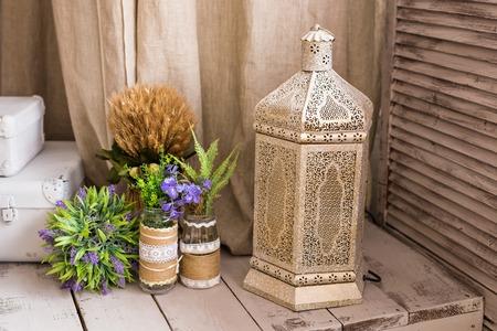 moroccan culture: Arabian lamp. Concept for Moroccan and Arabian culture and design Stock Photo