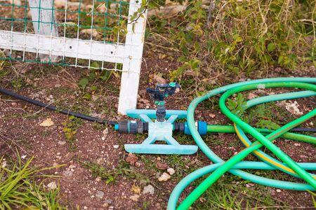 hosepipe: Garden hose-pipe outdoor Stock Photo