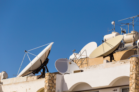 receiver: Satellite dish on the roof.