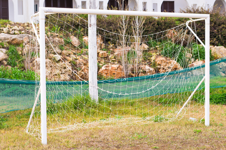 post: Soccer Goal with field