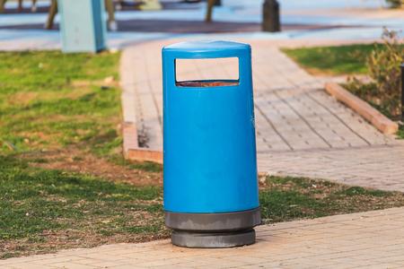 Garbage bin in city park