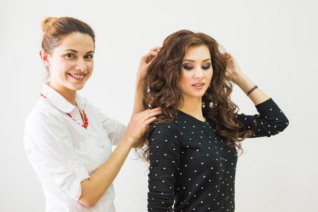 stage make up: Make-up Artist and Beautiful Fashion Model
