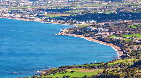 polis: Cyprus Latchi Panorama Stock Photo