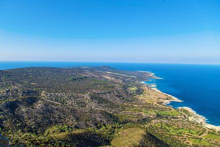 polis: Cyprus Akamas Peninsula National Park mountains top Stock Photo