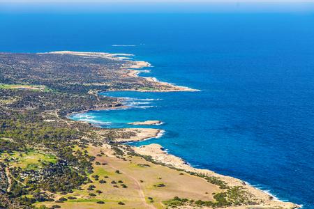 Cyprus Akamas Peninsula National Park mountains top Stock Photo